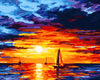 Image of DIY Paint by Numbers Kit for Adults - Summer Night Sunset
