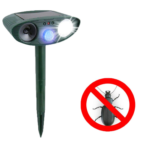 Beetle Ultrasonic Repeller (Solar Powered) - Get Rid of Japanese Garden Beetles in 48 Hours or It's FREE