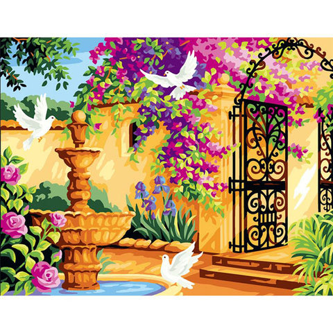 DIY Paint by Numbers Canvas Painting Kit for Kids & Adults - Perfect Garden