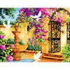 Image of DIY Paint by Numbers Canvas Painting Kit for Kids & Adults - Perfect Garden