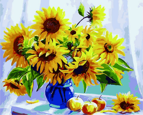 Paint by Numbers Kit for Adults by Alto Crafto - Sunflowers