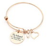 Image of Bangle Bracelet Engraved - She Believed she Could so she did Inspirational - Jewelry