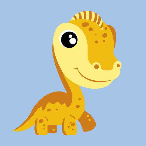 "DIY Acrylic Painting, Paint by Number Kits for Kids Beginner - Yellow Dinosaurus 8"" x 8"""