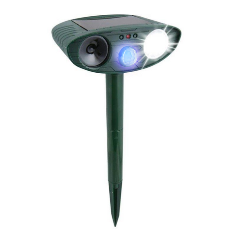 Ultrasonic Raccoon Repeller - Solar Powered - Get Rid of Raccoons in 48 Hours or It's FREE - CA