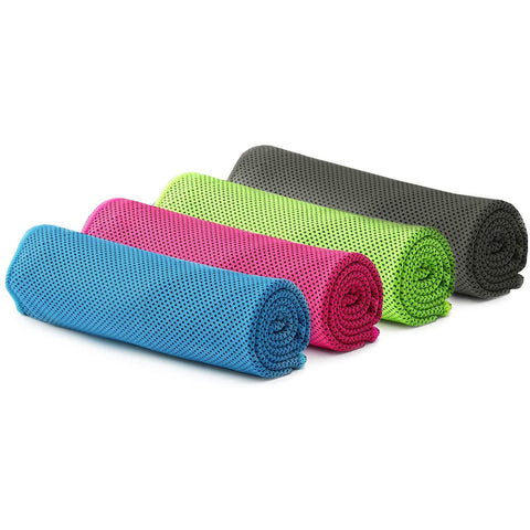 "Workout Cooling Ice Towel (40""x12"") - Blue, Green, Gray, Pink"