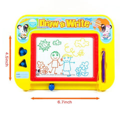 Magnetic Drawing Board by Kidolino - Drawing Board for Kids with 2 Stamps and 1 Pen - Travel Size