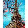 Image of DIY Paint by Numbers Kit for Adults - Eiffel Tower Flowers