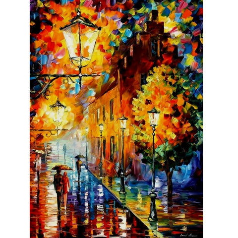 DIY Paint by Numbers Canvas Painting Kit for Kids & Adults - Walk in The Rain