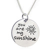 "Image of You Are My Sunshine Pendant Necklace - 18"" chain"
