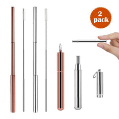 Ozetti Portable Reusable Drinking Straws 2 Sets