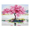 Image of DIY Paint by Numbers Kit for Adults - Blooming Tree Reflection