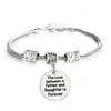 Image of The Love Between a Father and Daughter is Forever Bracelet - Family Jewelry Gift - 10""