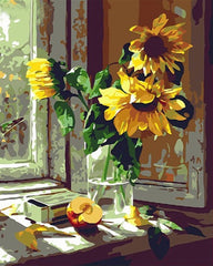 Paint by Numbers Kit for Adults by Alto Crafto - Vase of Sunflowers