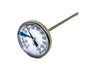 "Image of Stainless Steel Soil Thermometer - 5'' Long Stem, Easy-to-Read 1.5"" Dial Display, 0-220 Degrees Fahrenheit Range"