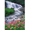 Image of DIY Paint by Numbers Canvas Painting Kit for Kids & Adults - Calm Waterfall Landscape