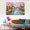 Image of DIY 5D Diamond Painting Kit, Full Drill Spring Blooming Trees Embroidery Cross Stitch Canvas