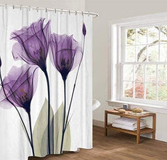 Shower Curtain with Metal Hooks, 72