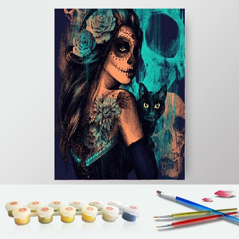 Paint by Numbers Kit for Adults by Alto Crafto - Magic Cat