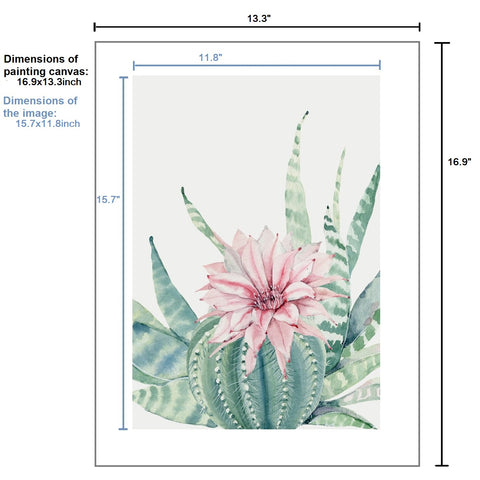 5D Diamond Painting by Number Kit Cactus Flower