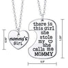 Image of Luvalti Mommy's Girl Stainless Steel Heart Pendant Necklace - Mother Daughter Necklace Set - Best