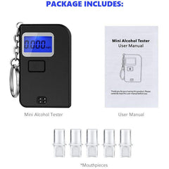 Breathalyzer - Digital Blue LED Screen - Portable