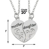 Image of Mother & Daughter Pendant Necklace - 2x20'' Chain + 2 Necklace Pendants