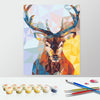 Image of Paint by Numbers Kit for Adults by Alto Crafto - Christmas Deer