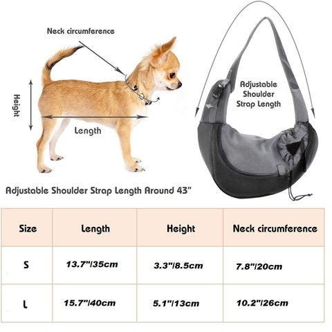 Sling Hands Free Carrier for Dogs and Cats