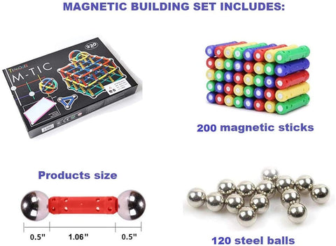 Magnetic Building Set 320 Pieces