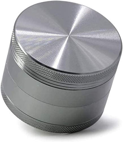 "4 Piece 2"" Spice Herb Grinder, Color Ancient Silver"