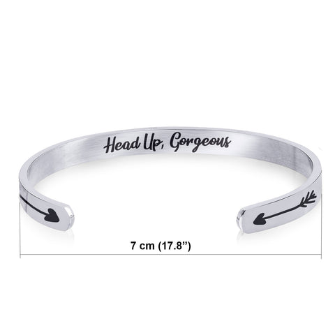 Stainless Steel Bracelet - Cuff Bracelet - Head Up Gorgeous