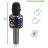 Image of Bluetooth Karaoke Microphone - Wireless 4 in 1 - With LED Lights
