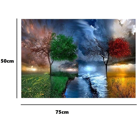 4 Seasons - Large Paper Jigsaw Puzzle [1000 Pieces]