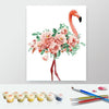 Image of Paint by Numbers Kit for Adults by Alto Crafto - Pink Flamingo and Roses