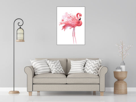 DIY Paint by Numbers Kit for Adults - Pink Flamingo