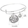 Image of Kind Free Happy Thankful Strong - Pendant Bracelet - Motivational Jewelry Gift