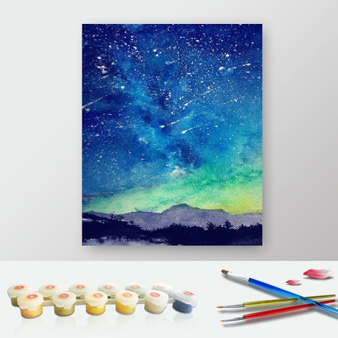 DIY Paint by Numbers Canvas Painting Kit for Kids & Adults - Northern Lights