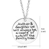 Image of Mother & Daughter we Will Always be, a Couple of Nuts Off The Family Tree Pendant Necklace