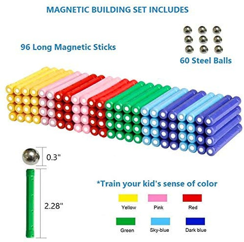 Magnetic Building Set 156 Pieces