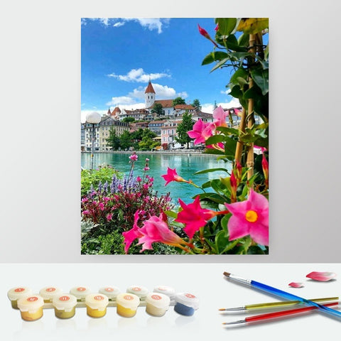 DIY Paint by Numbers Canvas Painting Kit for Kids & Adults - Turkey Amazing Sea View