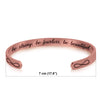 Image of Stainless Steel Bracelet - Cuff Bracelet - Be Strong, Be Fearless, Be Beautiful