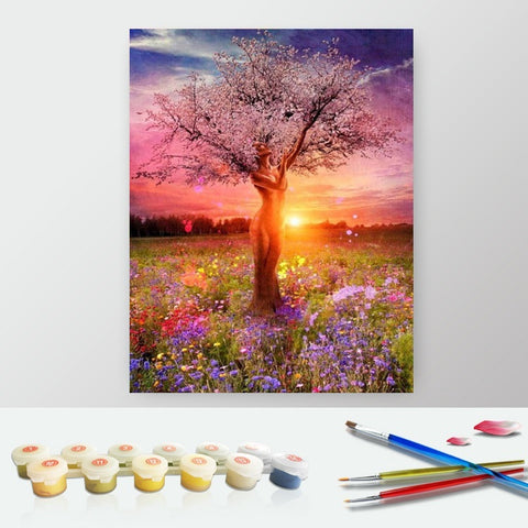 Paint by Numbers Kit for Adults by Alto Crafto - Sunrise and Tree of Life