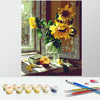 Image of Paint by Numbers Kit for Adults by Alto Crafto - Vase of Sunflowers