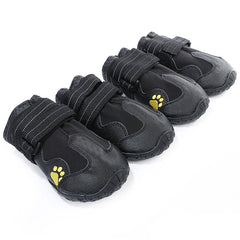 Waterproof Dog Boots Antiskid with Reflective Velcro Strip Outdoor Anti-Slip Pet Booties Dog Paw Protection Shoes for Winter Rain Pavement Heat - 4PCS
