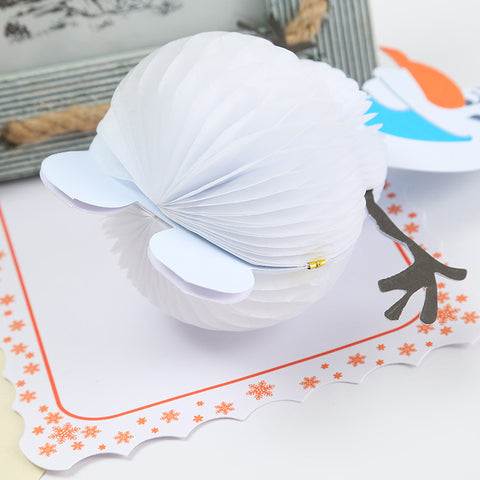 3D Christmas Pop Up Card and Envelope - Snowman