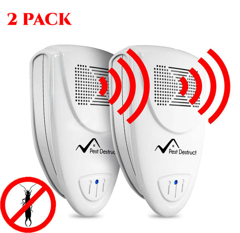 Ultrasonic Earwig Repeller - PACK of 2 - Get Rid Of Earwigs In 48 Hours Or It's FREE