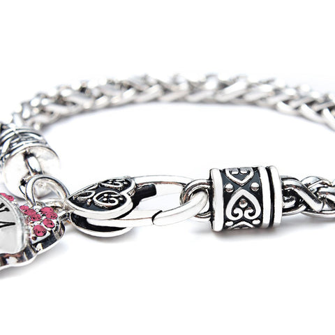 """Nana"" Charm Crystal Bracelet - Adorable Nana Pink Heart Bracelet - Best Family Jewelry Gift"