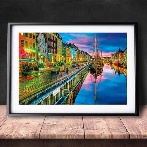 DIY Paint by Numbers Canvas Painting Kit for Kids & Adults - Sunset in Amsterdam