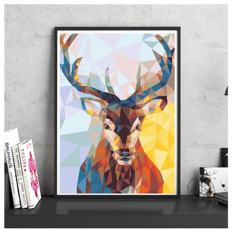 Paint by Numbers Kit for Adults by Alto Crafto - Christmas Deer