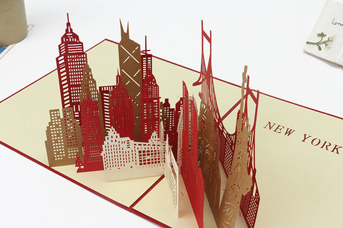 New York 3D Pop Up Card and Envelope - New York